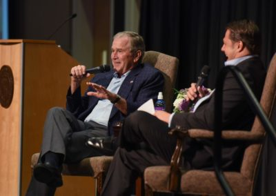DASpedia event with President George W. Bush. Photo by Grant Miller